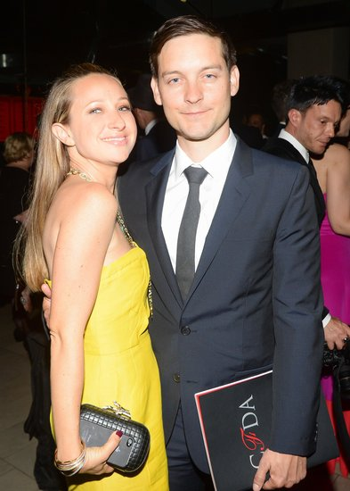 Tobey Maguire was out to support his wife, Jennifer Meyer. Source: Billy Farrell/BFANYC.com