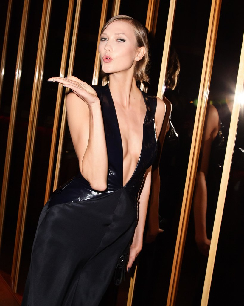 Karlie Kloss (wearing Cushnie et Ochs) at the Swarovski afterparty in New York. Photo: Matteo PrandoniBFAnyc.com