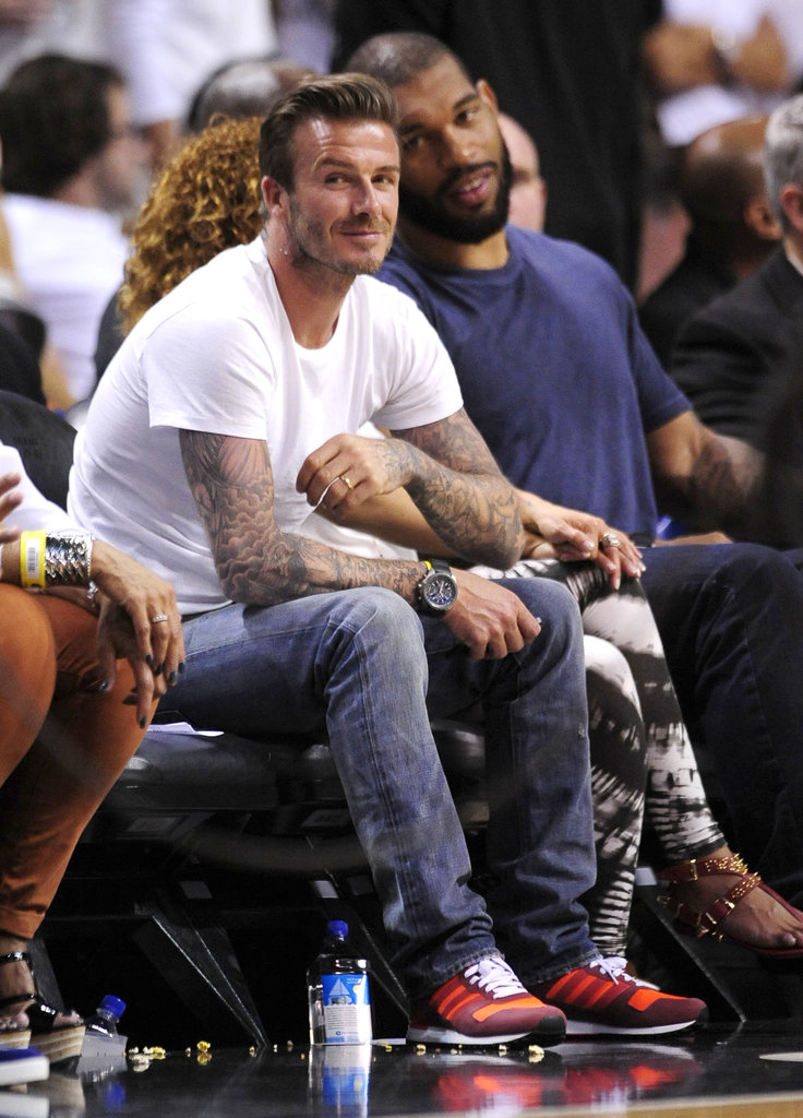 David Beckham and Justin Bieber Take It to the Court