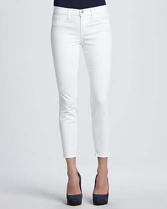 J Brand Jeans 835 White Cropped Jeans