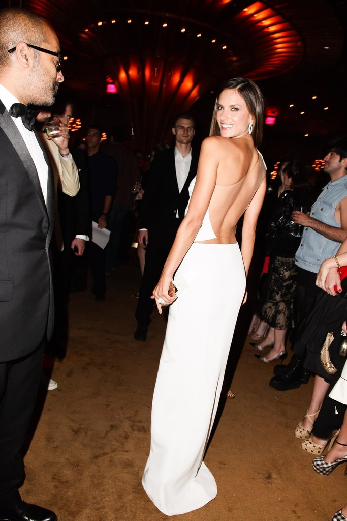 Alessandra Ambrosio (in KaufmanFranco) at the Swarovski afterparty in New York. Photo: Matteo PrandoniBFAnyc.com