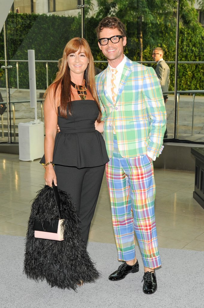 Deborah Lloyd, of Kate Spade, with Brad Goreski. Source: Neil Rasmus/BFAnyc.com