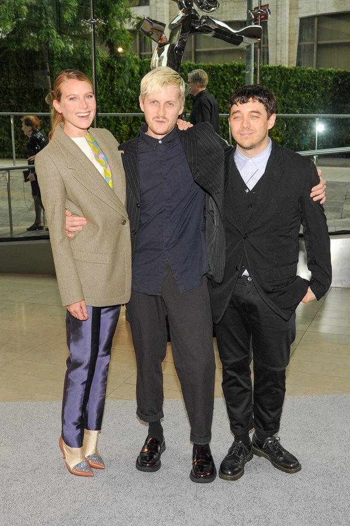 Dree Hemingway with Creatures of the Wind designers Christopher Peters and Shane Gabier. Source: Neil Rasmus/BFAnyc.com
