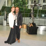 Frida Gustavsson with Johan Lindeberg. Source: Neil Rasmus/BFAnyc.com