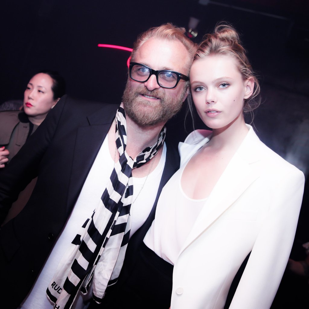 Johan Lindeberg and Frida Gustavsson at Riccardo Tisci's International CFDA Award Celebration in New York. Photo: David X PruttingBFAnyc.com
