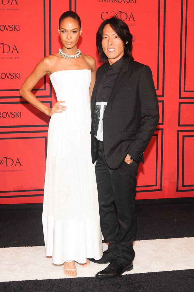 Joan Smalls with Stephen Gan. Source: Joe Schildhorn/BFAnyc.com