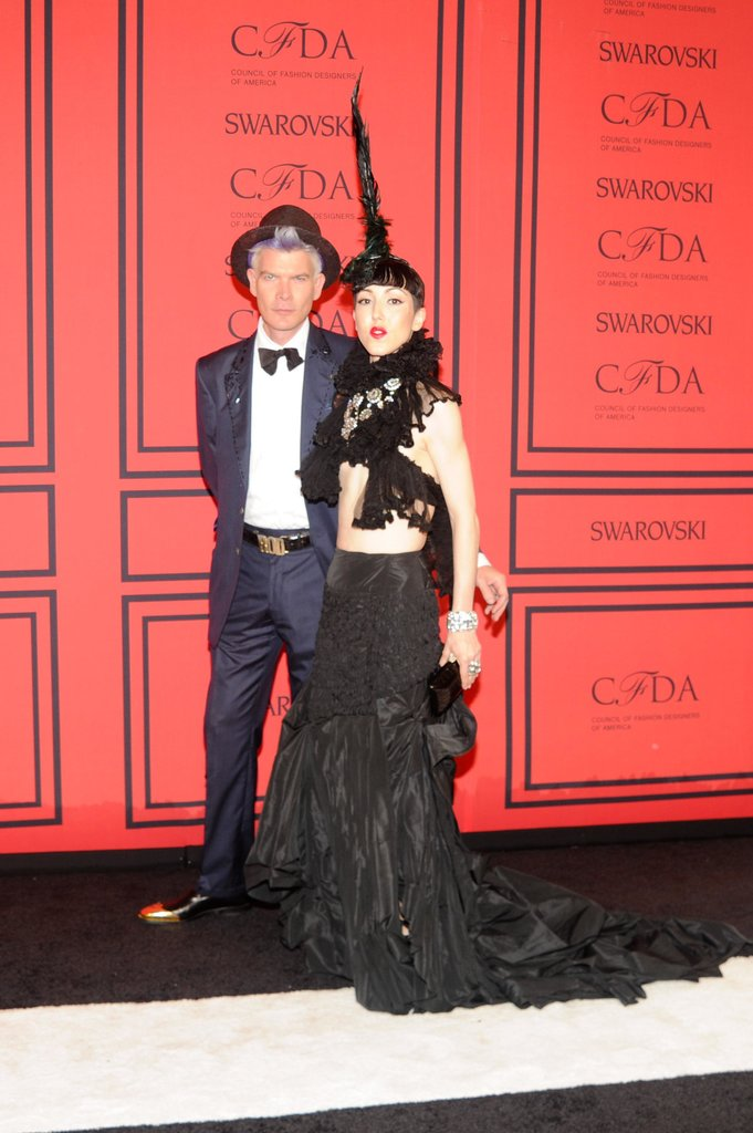 Michelle Harper with milliner Rod Keenan. Source: Joe Schildhorn/BFAnyc.com