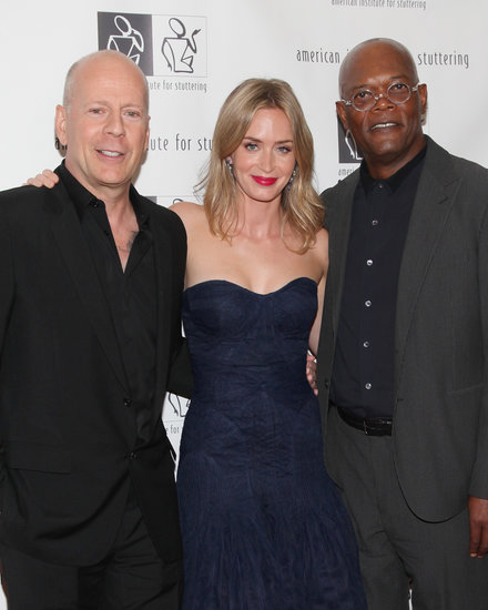 Emily Blunt was joined by Bruce Willis and Samuel L. Jackson at the seventh annual Freeing Voices, Changing Lives event.