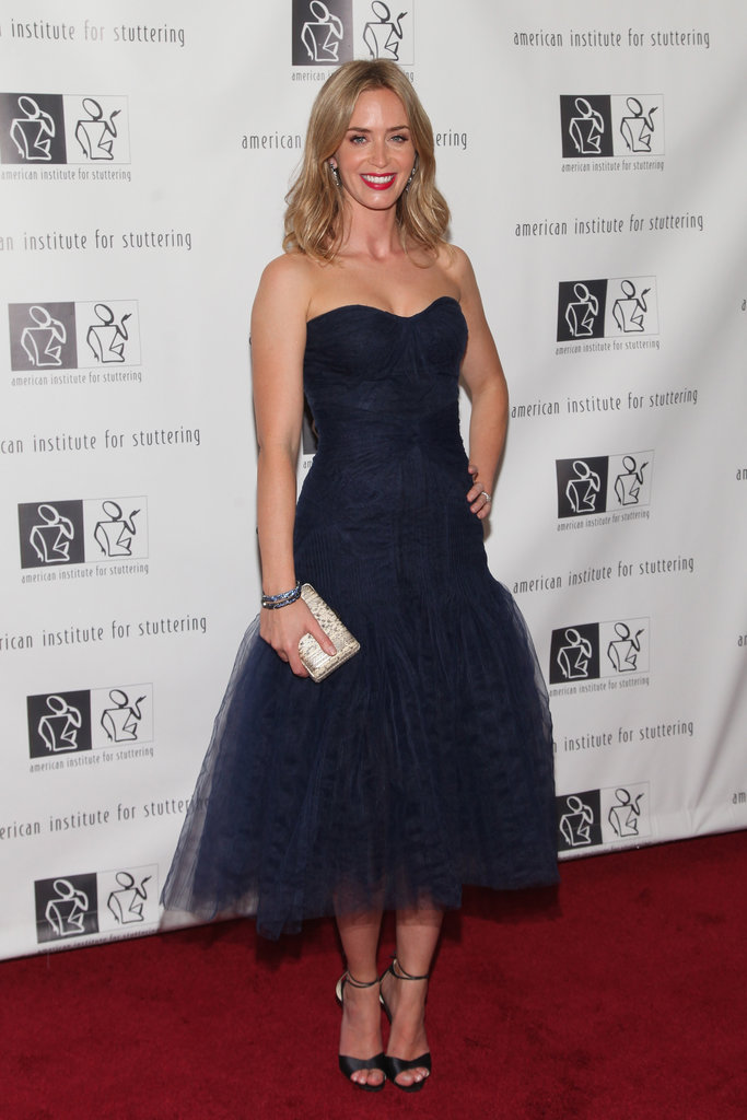 Emily Blunt wore a Zac Posen gown to the Freeing Voices, Changing Lives benefit gala.
