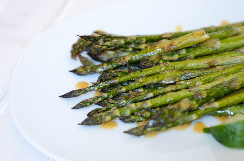 Asparagus with Miso Dressing