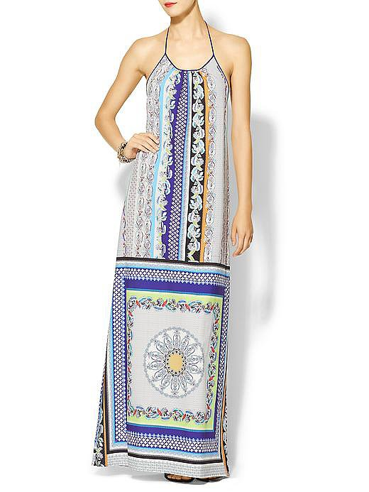 Clover Canyon's Gandhi scarf dress ($290) has everything a beach wedding look needs — lots of color, a fun print, and a relaxed silhouette.