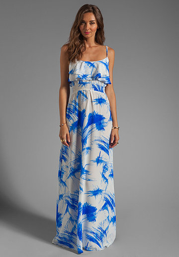 Jay Godfrey's ruffled maxi dress ($390) has the perfect cut and color scheme for a beach wedding. We love how the ruffled bodice gives it a superfeminine twist.