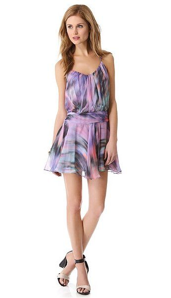 Milly's drop-waist dress ($395) fuses beautiful hues to create a feminine-cum-flirty look that's perfect for a beach wedding and other Summer soirees.