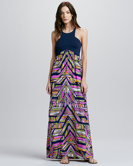 The contrast neckline on this Alice & Trixie geometric-print maxi dress ($319) gives it that extraspecial touch so it'll stand out from all the other maxis at the wedding.