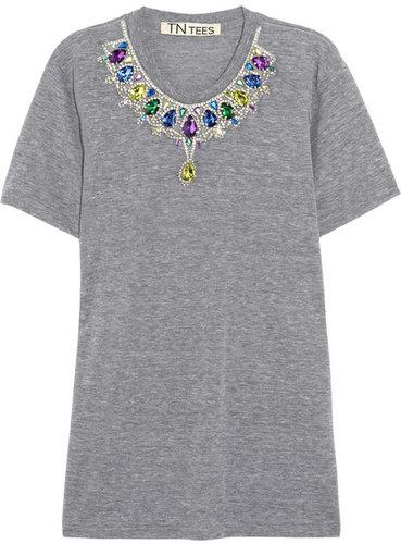 TNTees Julia crystal-embellished jersey T-shirt