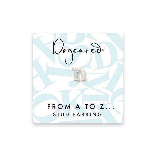 open n earring, sterling silver
