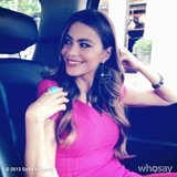Sofia Vergara showed off a pink Michael Kors dress and Lorraine Schwartz jewels for a press day in NYC. Source: Sofia Vergara on WhoSay