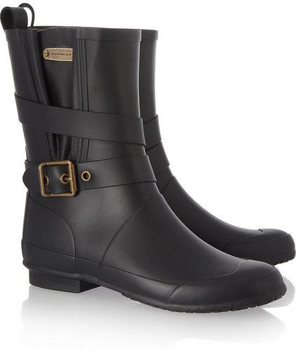 Burberry Shoes & Accessories Biker-style Wellington boots