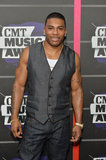 Nelly arrived at the CMT Awards.