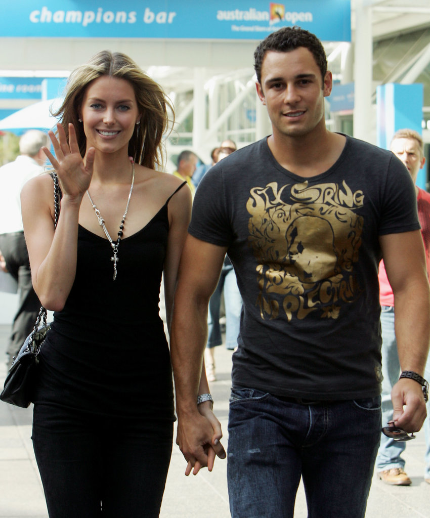 Jennifer and Jake walked hand-in-hand around the 2008 Australian Open.