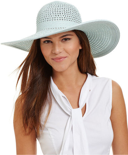 Nine West Hat, Open Weave Packable Floppy