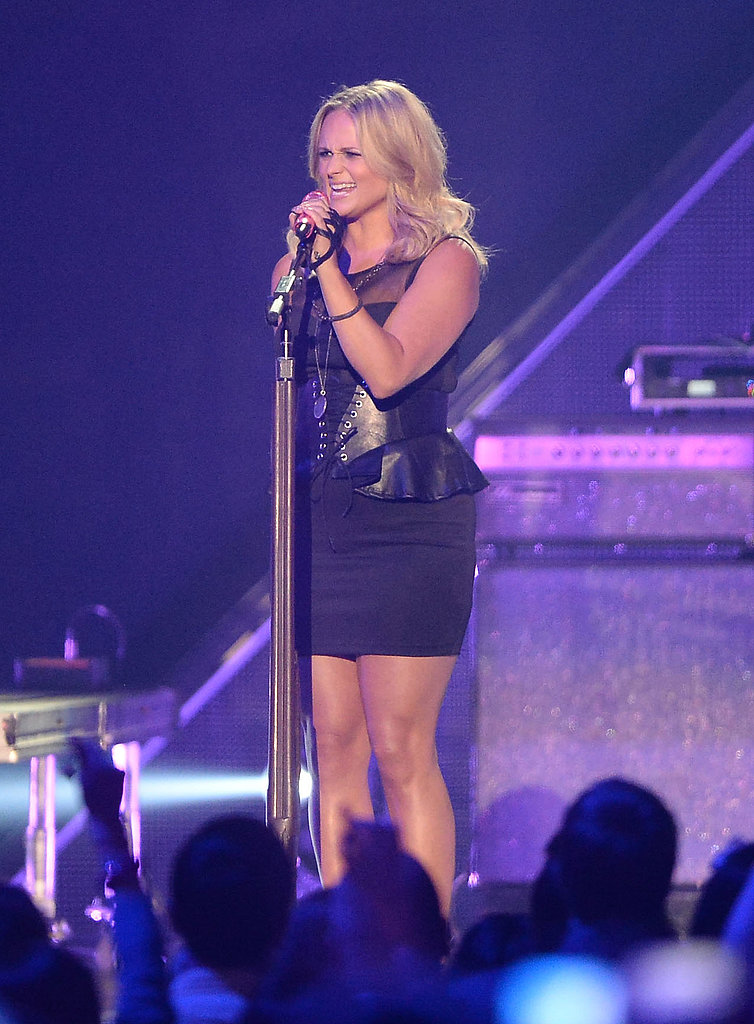 Miranda Lambert on stage at the CMT Awards.