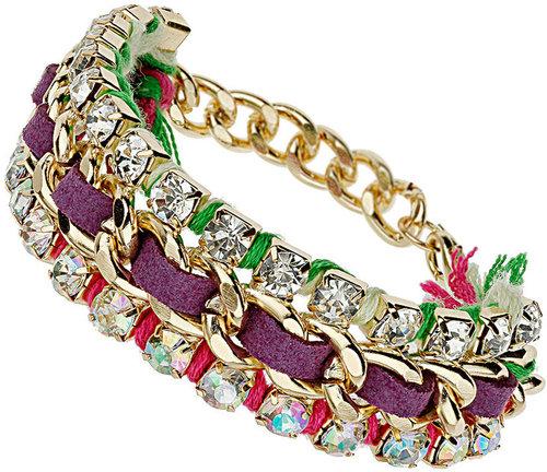 Rhinestone Chain Wrap Bracelet