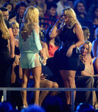 Carrie Underwood chatted with Miranda Lambert.