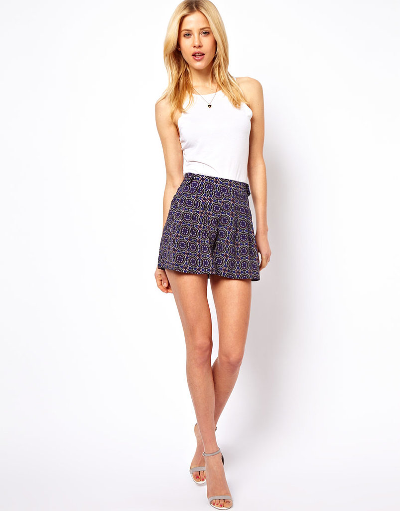 These Asos culottes in tile print ($38) would look fabulous with all your basic tanks.