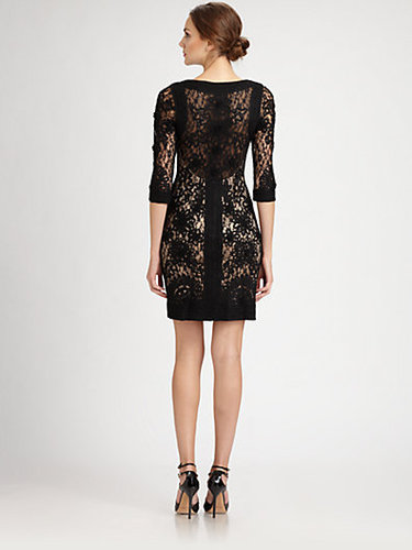 Sue Wong Embroidered Lace Dress