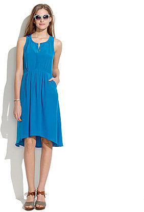 Silk waterfall dress