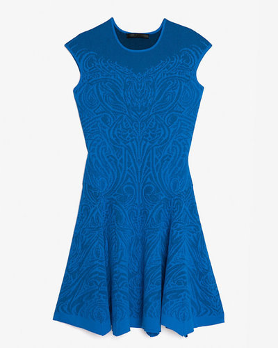 Rvn Abstract Print Knit Flare Dress