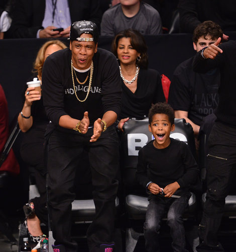 Jay-Z shared an adorable moment with his godson at a Brooklyn Nets game in April — their mutual excitement made for one sweet photo!