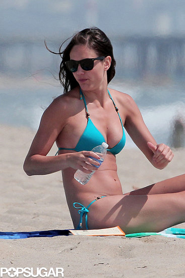 Desiree Hartsock soaked up some sun on the beach.