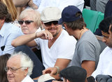 Leonardo DiCaprio was joined by his friend Lukas Haas for another round of watching the French Open on June 5 in Paris.