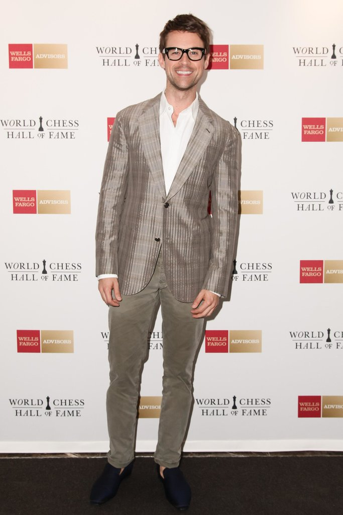 """Brad Goreski at the World Chess Hall of Fames's """"A Queen Within: Adorned Archetypes, Fashion and Chess"""" exhibit preview in NYC. Source: Benjamin Lozovsky/BFAnyc.com"""