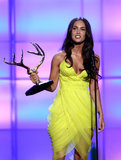 Megan Fox wore a neon-yellow frock when she attended the award show in 2008.