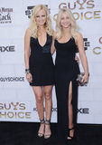 Malin Akerman and Julianne Hough walked the black carpet together at the Guys Choice Awards in 2012.