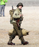 Bill Murray was in full uniform on the set of The Monuments Men in England on Wednesday.