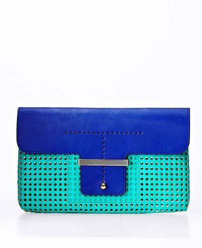 Perforated City Clutch