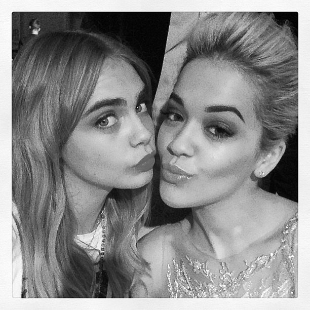 Cara Delevingne and Rita Ora stuck close together at the Glamour Woman of the Year Awards in London. Source: Instagram user caradelevingne