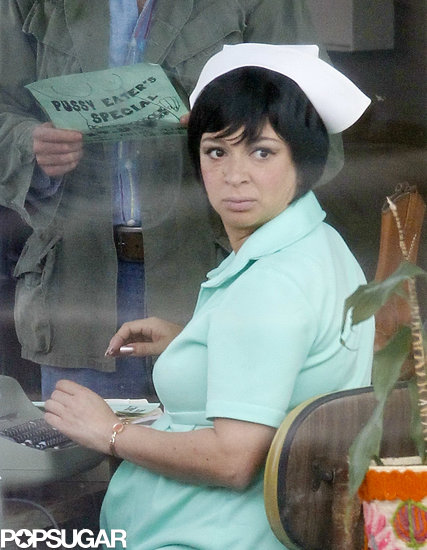 Maya Rudolph was minty green on the set of Inherent Vice in LA on Tuesday.