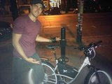 Nicholas Hoult showed off his rad X-Men bike. Source: Twitter user danstudney