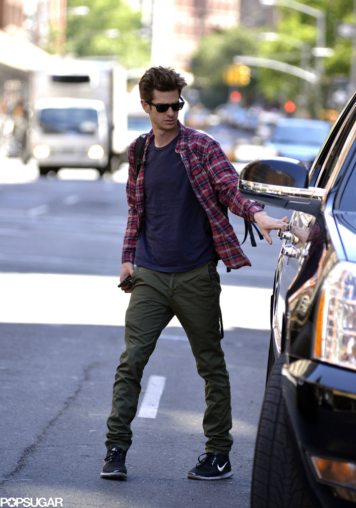 Andrew Garfield had a solo outing in the Big Apple.