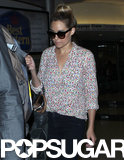 Lauren Conrad returned home to LA after a press trip in NYC.