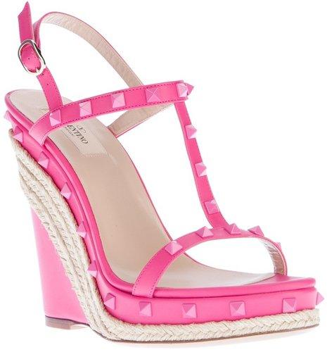 Valentino Garavani 'Rockstud' wedge sandal