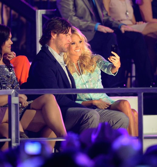 Carrie Underwood turned the camera on herself and husband Mike Fisher at the CMT Music Awards in Nashville, TN.