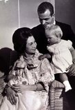In 1965, Queen Sofia and King Juan Carlos of Spain posed with newborn Infanta Christina and older sister Infanta Elena.