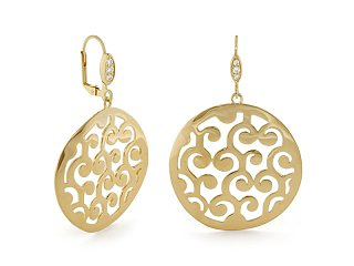 Stamped with Love Swirl Earring