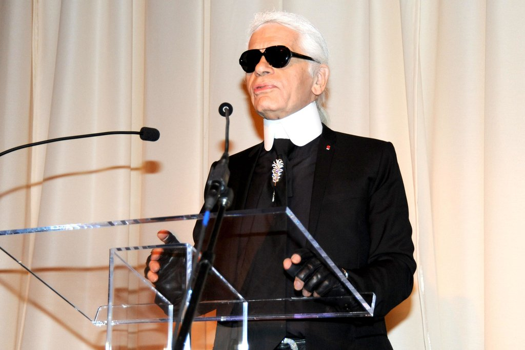 """What I hate most is flip-flops. I'm physically allergic to flip-flops.""  — Karl Lagerfeld on footwear in an interview with M Magazine. Source: Billy Farrell/BFAnyc.com"